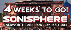 Sonisphere - 4 weeks to go